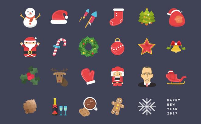 Рождественские иконки «Christmas» PSD