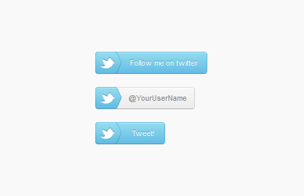 Кнопки «Twitter» HTML