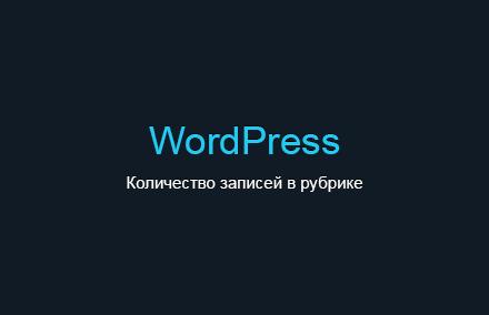Два с половиной способа получения и вывода количества постов в рубрике на WordPress