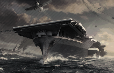 Меню для группы «ВКонтакте» «World of Warships» PSD