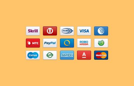Иконки платежных систем PNG