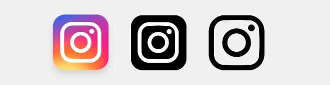 Сет иконок нового логотипа «Instagram» PNG+PSD