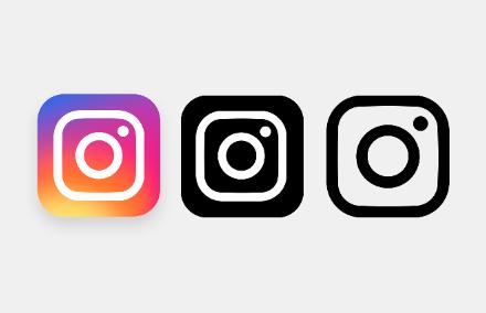 Сет иконок нового логотипа «Instagram» PNG/PSD