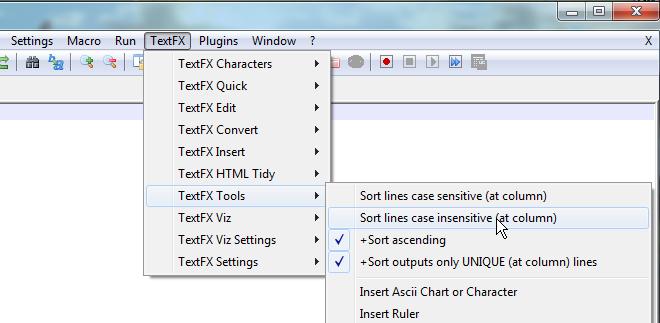 Как с помощью Notepad++ удалить повторяющиеся строки (дубли)?