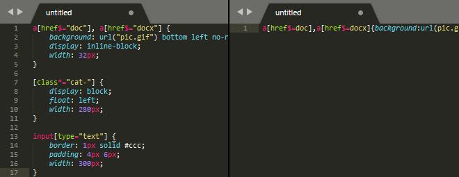 Минификация JS- и CSS-файлов на PHP