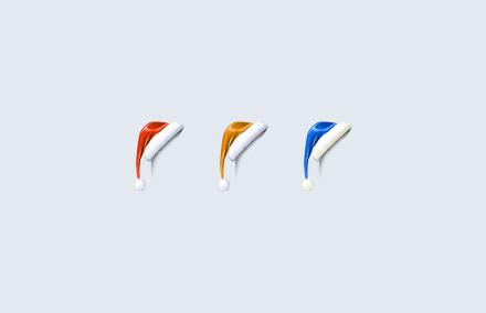 Новогодняя шапка на счетчик или другой элемент сайта на HTML+CSS