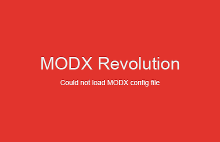 Решаем проблему «Could not load MODX config file» на MODX Revo