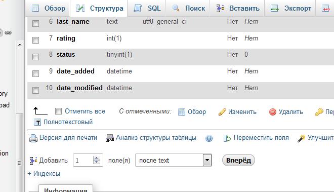 Дополнительное поле для отзывов к товару в OpenCart