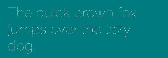 Точечный шрифт «Raleway Dots» TTF/WOFF