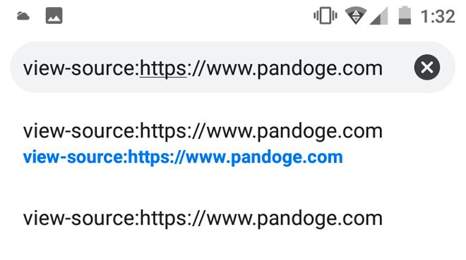 Как посмотреть исходный код страницы сайта на планшете/телефоне с ОС Android?
