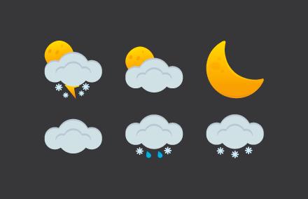 Современные иконки погоды PNG/AI/SVG