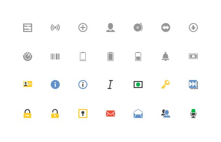 Иконки интерфейса социальной сети «Google Plus» PSD/PNG